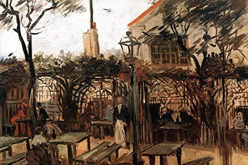 1art1 Vincent Van Gogh Poster Reproduction - Terrasse du Café La Guinguette À Montmartre, 1886 (120 x 80 cm)