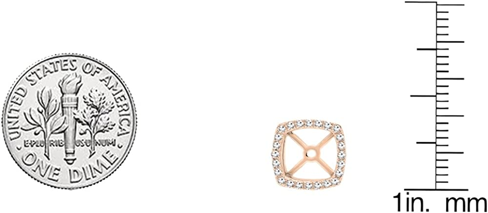 Dazzlingrock Collection 0.30 Carat (ctw) 10K Gold Round White Diamond Removable Jackets For Stud Earrings 1/3 CT