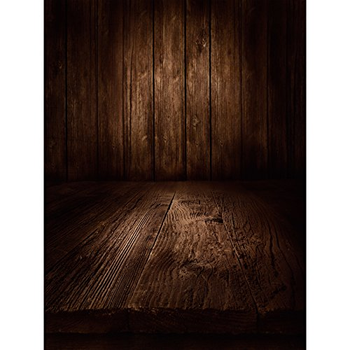 Meer 5x7ft Vinyl Portret Donker Vintage Houten Vloerplanken Plank Fotografie Studio Achtergrond
