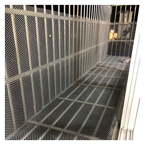 LinLiQiao Red de protección de seguridad para gatos para niños, red de seguridad para mascotas, escaleras y balcones, color blanco, 1,5 x 6 m (tamaño: 0,8 cm de apertura, color: blanco)