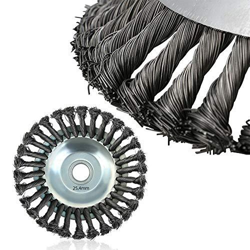 Unkrautbürste,Unkrautbürste Wildkrautbürste,Inner Hole 25mm Brush Cutter,Hohe Standfestigkeit - sehr robust - leichte Montage (150 * 150 * 50 mm)