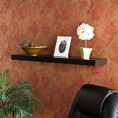Tampa 36-inch Black Floating Shelf MDF Metal Matte Includes Hardware