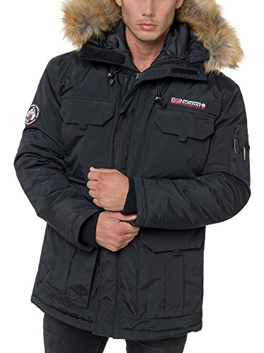 Geographical Norway Alpes, Chaqueta Bomber para Hombre, Negro (Black), Large