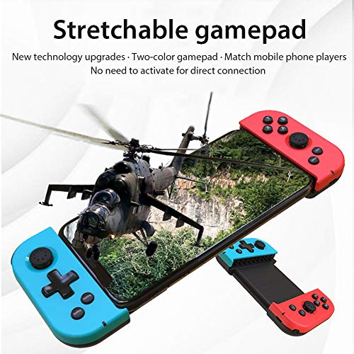 Brownrolly Handy-Gaming-Controller, drahtloses Bluetooth-Gamepad Dehnbare Handys Gaming-Joystick-Controller für IOS/Android-Smartphones