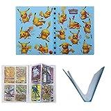 OMZGXGOD - Pokemon Cartas Álbum, Trading Card Albumes,Género Neutro,Transparente,4-Pocket Titular de Tarjetas Pokémon Carpeta Libro 30 páginas Puede Contener hasta 240 Tarjetas (Pikachu)