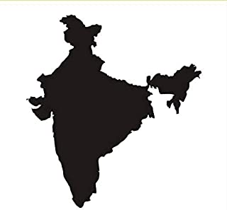 ZYZSLM Wall Sticker India Map Wall Sticker Vinyl Waterproof Removable Wall Decor for Bedroom Sofa Background Decoration 40X44Cm