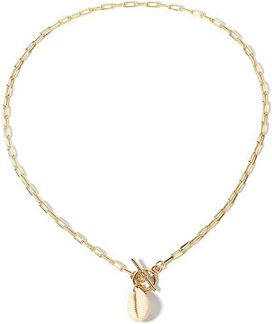 Simsly Boho Shell Pendant Necklaces Gold Lariat Necklace Chain Jewelry for Women and Girls