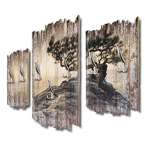Kreative Feder Einsamer Baum Designer Wandgarderobe Flurgarderobe Wandpaneele 95 x 60 cm aus MDF DTGH052