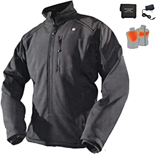 Cordless Men's Heated Jacket with Battery and Charger for Winter Outdoor Work (XXL)