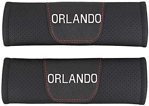 2Pcs Coche Almohadillas Cinturón Seguridad para Chevrolet Orlando, Hombro Correa Cojín Cuello...