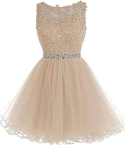 Dydsz Women s Prom Dresses Short Homecoming Dress for Teens Party Cocktail Gown A Line Tulle product image