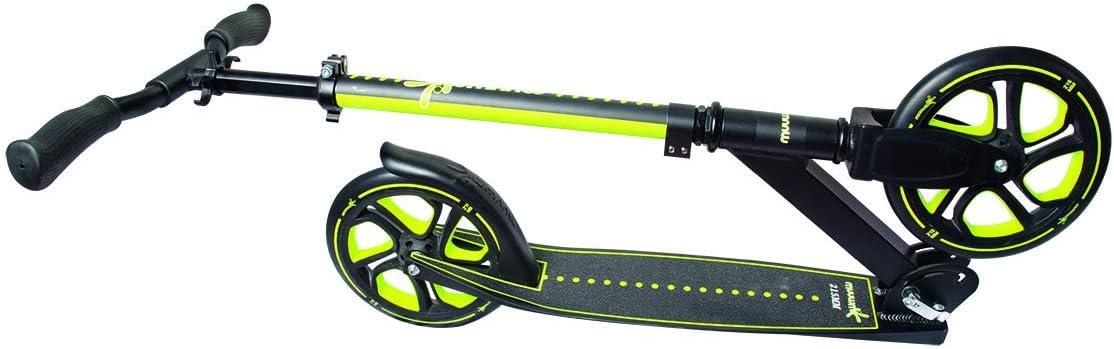 Nero//Verde MUUWMI Aluminium Scooter PRO 230 mm One Size Unisex-Youth