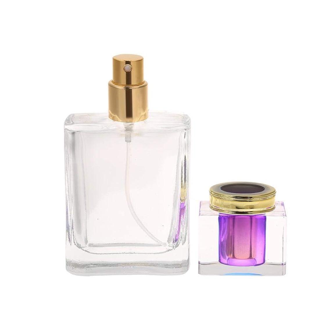 シプリー破壊的な市場Ochun 香水アトマイザー 香水スプレーボトル 詰め替えボトル 50ml 小分けアトマイザー 香水/化粧水容器 旅行ポータブル(パープル)