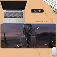 素敵なマウスパッド特大アイスプリンセスゴーストナイフ風チャイムプリンセスアニメーション肥厚ロック男性と女性のキーボードパッドノートブックオフィスコンピュータのデスクマット、Size :400 * 900 * 3ミリメートル-HW-228