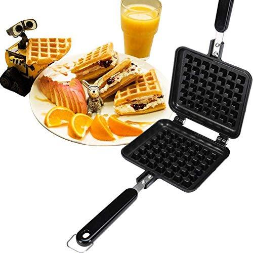 NLRHH Fácil de Limpiar el sándwich Antiadherente y el Fabricante de gofres con Placas extraíbles y un Sistema termoestático automático para el Desayuno, el Almuerzo o los bocadillos Peng