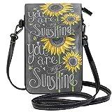 XCNGG Monedero pequeño para teléfono celular Sunflower Cell Phone Purse Wallet for Women Girl Small Crossbody Purse Bags