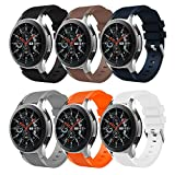 Sundaree Compatible con Correa Galaxy Watch 46MM/Gear S3 Frontier/Classic,6 Colores Silicona 22MM...