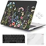 iCasso MacBook Air 13 inch Case 2020 2019 2018 Release A1932/A2179, Hard Shell Case Protective Cover and Keyboard Cover Only Compatible Newest MacBook Air 13'' with Touch ID Retina Display - Weeds