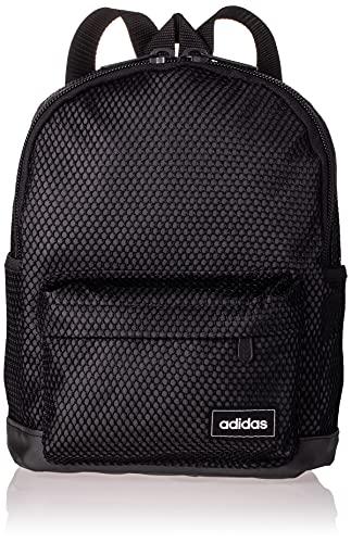 adidas Damen T4H MESH BP S Tagesrucksack, Schwarz/Schwarz/Weiß (Mehrfarbig), Einheitsgröße