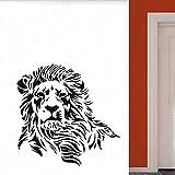 León pegatina de pared vinilo hermoso depredador Animal pared calcomanía hogar sala de estar decoración pegatina zoológico León Animal Mural 42x41cm