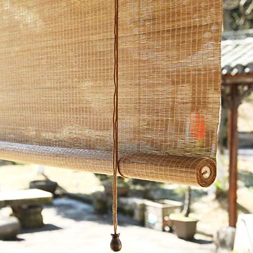 AINUO Rollo de bambú para exteriores para terraza, terraza, porche, balcón, balcón, 90% fuera del 90% de protector solar, 85 cm, 105 cm, 125 cm, 145 cm de ancho (tamaño: 125 x 260 cm)