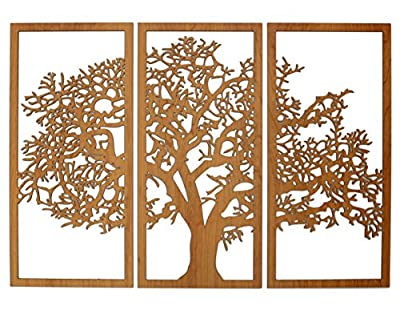 Skyline Workshop Tree of Life - 3 Panel Wall Art - Beautiful Living Room Decor - House Warming Gift - Modern Art - Made in The USA by Skyline Workshop