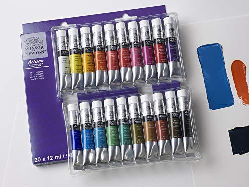 Winsor & Newton Artisan-Set di Colori a Olio miscelabili ad Acqua, Multicolore, 10 Farben Starterset für wassermischbare Ölfarben