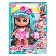 Pre-school Kindi Kids 10 inch doll and 2 Shopkin Accessories Bella Bow can hold herpretty Tea Cup Shopkin! Tilt herShopkin Tea Pot to pour some tea! Herhead wobbles and bobbles when you pick herup! You can remove hershoes and change herclothes...