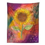 KHKJ Tapiz psicodélico Cielo Estrellado Flor Planta decoración de Pared tapices Hippie decoración Boho decoración del hogar Mural A7 230x180cm