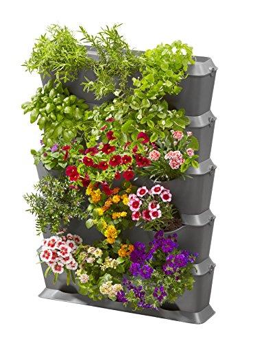 Gardena Natureup! Start Verticale con Irrigazione, Parete di Sostegno per Piante per Il Rinverdimento di Balcone Terrazzo Cortile, Kit per 15 Piante, Irrigazione Invisibile (13151-20)