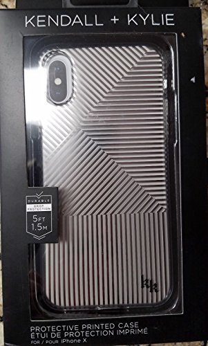 KENDALL + KYLIE Protective Printed Case for iPhone X SILVER