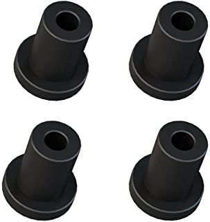 1-5/16in Matte Black Spacer Replacement Sliding Barn Door Hardware for Flat Track Set of 4