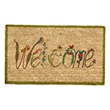 Abbott Coir Fibre Doormat, Welcome, Natural Material