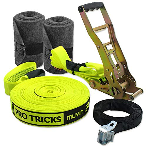 Slackline Pro Tricks 25m Muvin Slk-400 - Amarelo