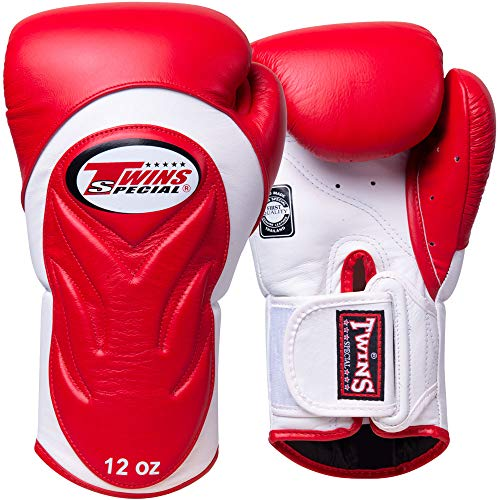 Twins Boxhandschuhe, Premium, BGVL-6, rot-wei?, Boxing Gloves, Muay Thai, MMA Size 10 Oz