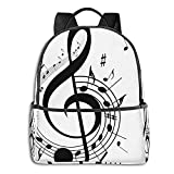 Paquete de mochila Music Printed Multifunctional Men'S And Women'S Backpacks Business And Travel Laptop Backpacks School Bags 14.5x12x5 In