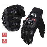 Guantes de moto Touch Screen guantes deportivos de verano guantes de moto MTB protector resistente guantes para hombre y mujer negro XL Nero-1