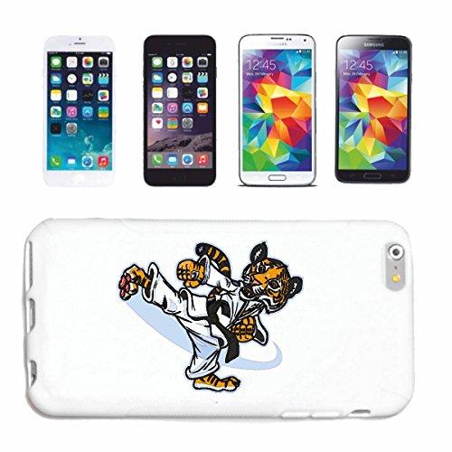 Reifen-Markt Handyhülle kompatibel für iPhone 7+ Plus Karate Tiger IM KARATEANZUG BEIM TRAINIEREN GROSSKATZE KÖNIGSTIGER Leopard SIBIRISCHER Tiger Raubkatze Katzen