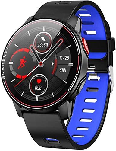 IP68 impermeable pantalla completa táctil reloj inteligente Bluetooth monitoreo del sueño deportes seguimiento de salud compatible con Android e iOS Phones-A