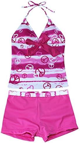 iiniim Big Girls Two Piece Halter Tankini Swimsuit Tank Top with Boyshort Sets Summer Beach product image