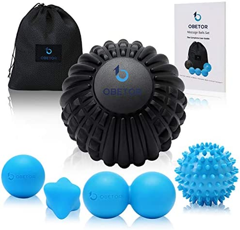 OBETOR Massage Ball Set for Deep Tissue Muscle Knots Trigger Point Physical Therapy Myofascial product image