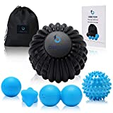 OBETOR Massage Ball Set for Deep Tissue Muscle Knots, Trigger Point Physical Therapy, Myofascial Release, 5' Textured Mobility/Lacrosse/Peanut/Spiky/Hand Roller Ball for Back/Shoulder/Foot Pain Relief