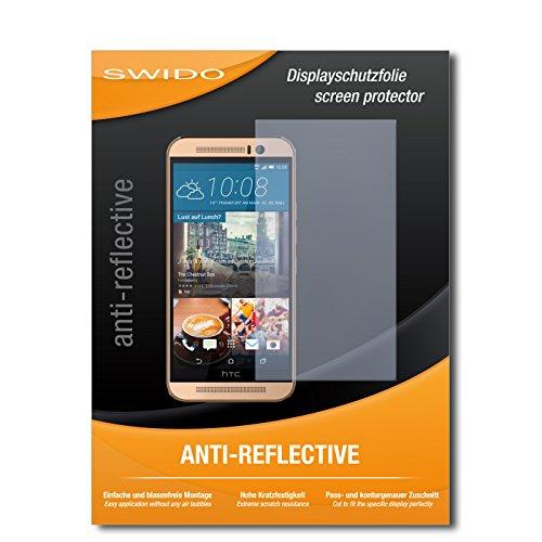 SWIDO Schutzfolie für HTC One M9 (Prime Camera Edition) [2 Stück] Anti-Reflex MATT Entspiegelnd, Hoher Festigkeitgrad, Schutz vor Kratzer/Bildschirmschutz, Bildschirmschutzfolie, Panzerglas-Folie