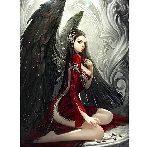 AmyGline 5D Diamond Painting Fallen Angel DIY Embroidery Painting Cross Stitch Diamond Decoration 30 * 40cm