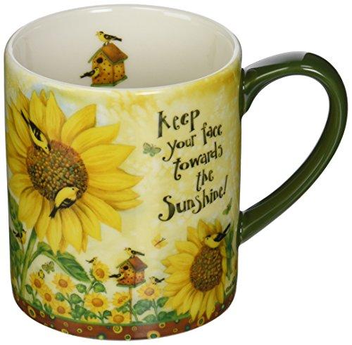 Lang Sunflowers Mug by Debi Hron, 14 oz, Multicolored