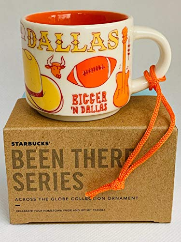 Starbucks DALLAS BEEN THERE SERIES ACROSS THE GLOBE COLLECTION ORNAMENT Ceramic Demitasse Mug, 2 Fl Oz