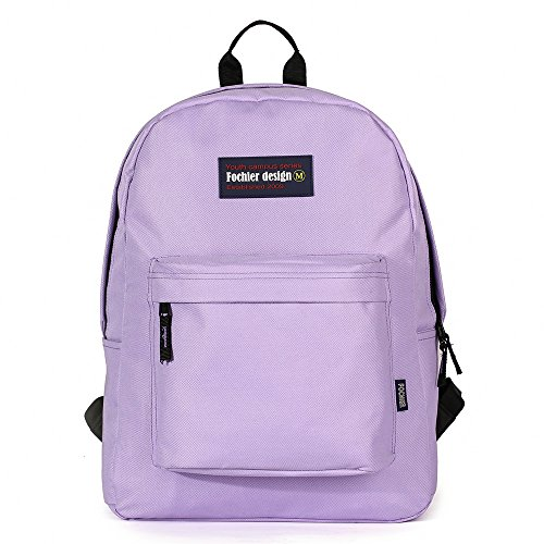 "FOCHIER F Fochier Unisex Classic Everyday School Laptop Daypack Backpack para Portátil DE 14""-15.6"",Púrpura"