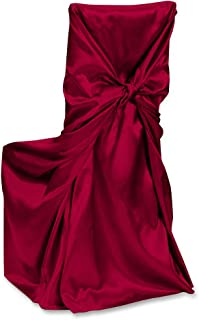 LinenTablecloth Satin Universal Chair Cover Burgundy