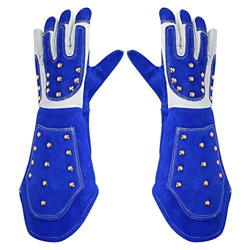 Anti-Biss-Schutzhandschuhe, Arbeitsschutzhandschuhe, Beisssichere, Lange, Verstärkte Lederschutzhandschuhe für Training von Hundehaustieren(L)