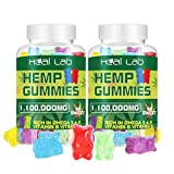 (2 Pack) Hemp Gummies 1,100,000mg - 100% Natural Hemp Oil Infused Gummies 120ct Premium Gummy Edibles for Recovery Anxiety, Stress Relief, Boost Memory Function, Improved Sleep, Support Good Mood